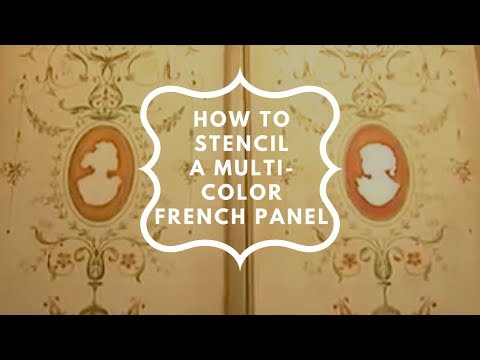 Stencils: Using stencils for home decor. Stenciling a French Panel.