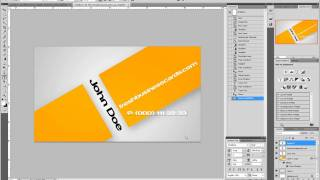 How to Make Orange Business Cards in Photoshop
