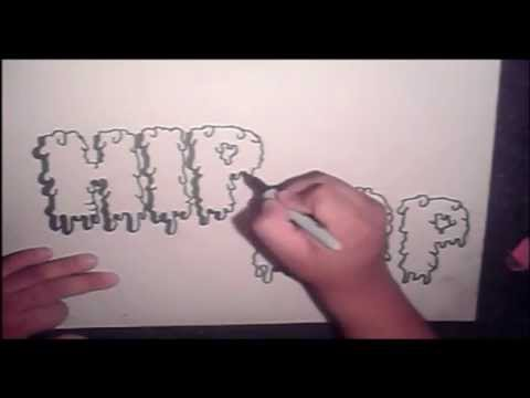 step by step how to draw graffiti letters  (HQ)