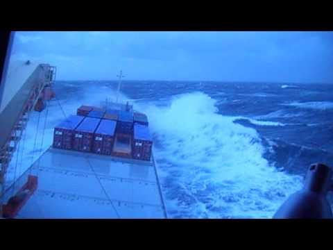 Cargo vessel in heavy conditions