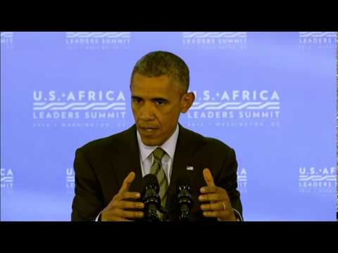 (Obama) Urges Cease Fire for Gaza; Help With Ebola  8/7/14