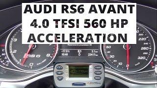 Audi RS6 Avant 4.0 TFSI 560 KM - acceleration 0-100 km/h