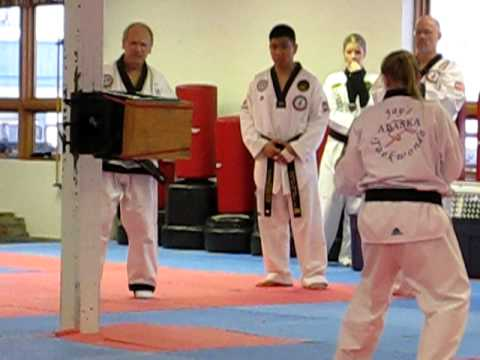 Taekwondo Breaking the Master Board
