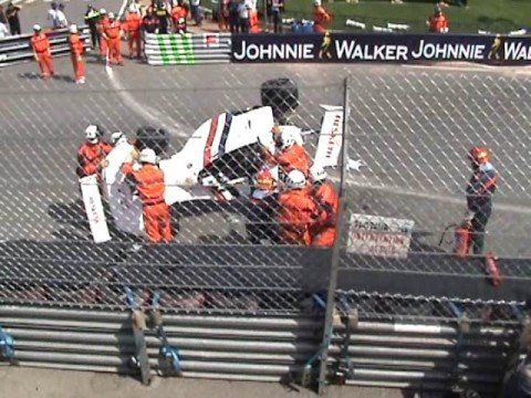 Jelios Monaco 2008 hesketh crash live formule 1 formula one