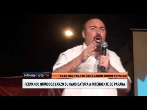 <b>Discurso completo.</b> de Fernando Quinodoz lanz� candidatura a intendente de Paran�
