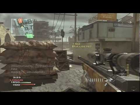 AMAZING THROWING KNIFE MW3!