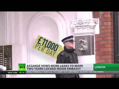 Assange to release new leaks despite self-imposed incarceration  6/19/14  A MUST WATCH