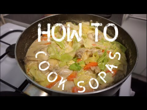 How to Cook Sopas (Creamy Chicken with Pasta Soup)