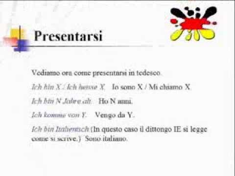 Lezioni di tedesco 2- introduzione ai sostantivi e presentazione