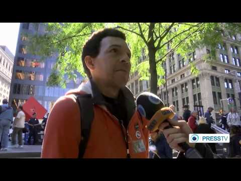 Occupy Activists In (Wall Street) March Against  police brutality  And Income Inequality  9/18/14