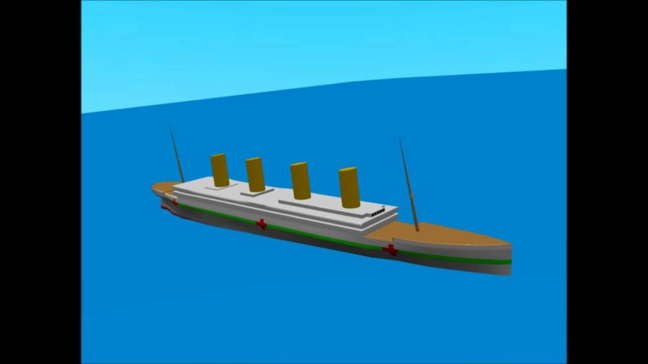 Titanic And Britannic Sinking Britannic Sinking Animation
