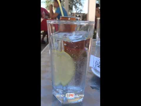 Slowmotion water vs lemon