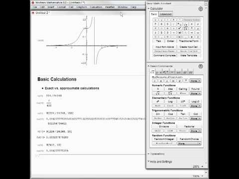 Hands-on Start to Mathematica: Basic Calculations
