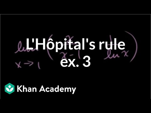 L'Hopital's Rule Example 3