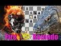Слон с конём против ферзя! Fire - Komodo - партия шахматных движков