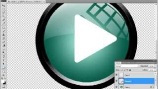 tutoriales photoshop boton multimedia realista