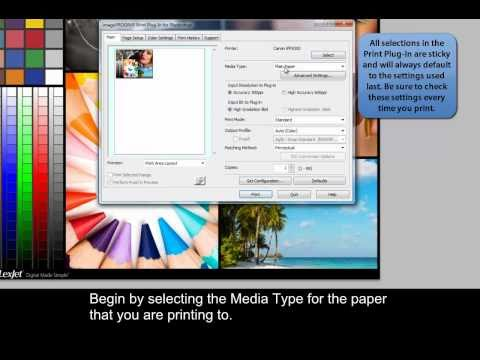 Canon iPF Printers - Printing through the Print Plug-In for Photoshop