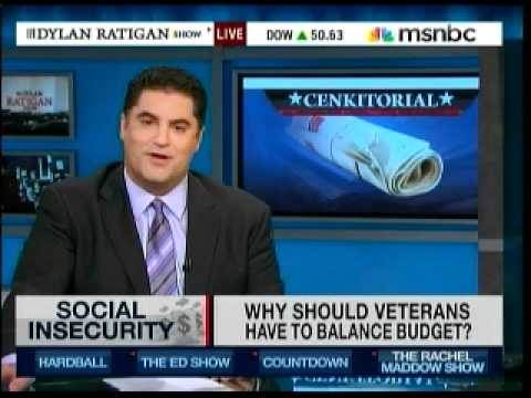 MSNBC: Vets Target Of Deficit Commission? (Cenk Outraged)