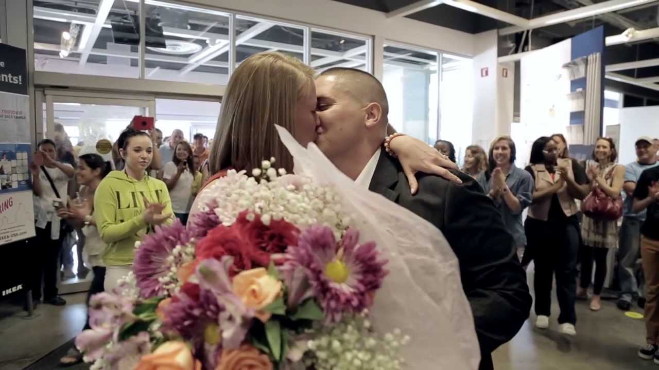 Flash Mob Marriage Proposal at IKEA Sunrise