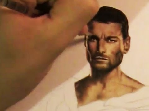 Spartacus - Andy Whitfield - Speed Painting