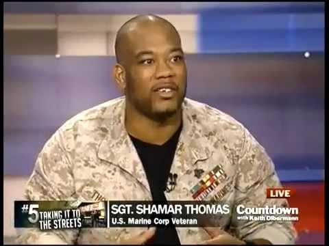 Marine Sgt. Shamar Thomas on Countdown with Keith Olbermann (10/17/2011)