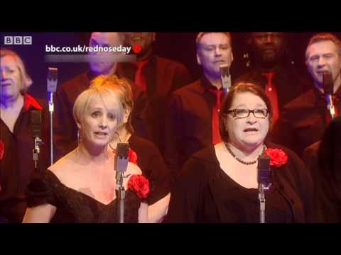 "The Chefs Choir Sing ""Never Gonna Give You Up"" - Red Nose Day 2011 - BBC Comic Relief Night"