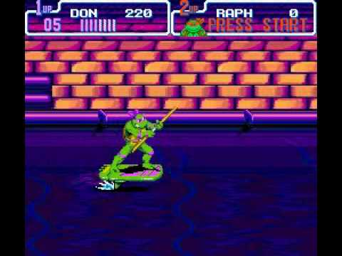 TMNT 4 Turtles in Time SNES Level 3