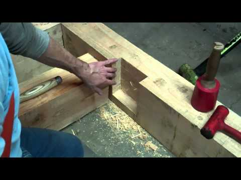 Trees To Timber Frame Cabin Off-grid Homestead Project Floor Joist