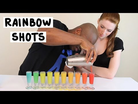How to make the BEST Rainbow Shots - TipsyBartender