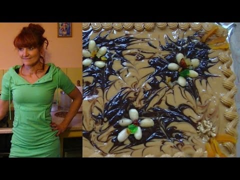 Mazurek z polewą kajmakowo-czekoladową [KuchniaRenaty]