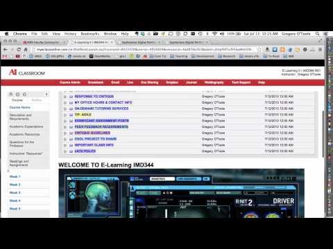 IMD344 eLearning II - Welcome To Class