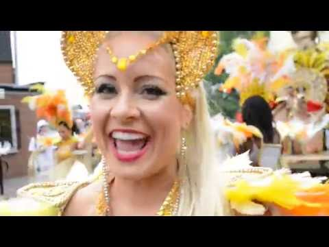 Notting Hill Carnival 2012 Paraiso School of Samba Dancers 3 [backstage interview]