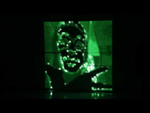 405nm laser  fade out test 2 (Daito Manabe + Motoi Ishibashi)