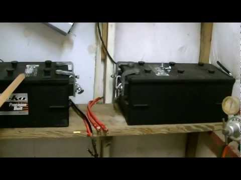How to connect solar panels to battery bank/charge controller/inverter,  Wiring diagrams