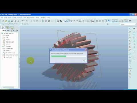 Helical gear Tutorial (parts 1 to 4)