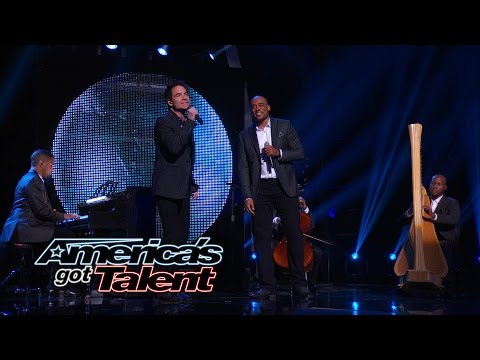 Sons of Serendip: Guys Join Rock Band Train - America's Got Talent 2014 Finale