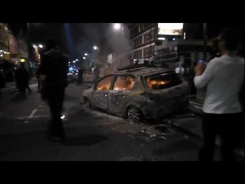 2nd Night of London Rioting (Live Amateur Video) 2012 Olympic City Tottenham