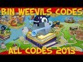 Bin Weevils ALL Codes for Mulch, Nest Items and XP 2013!