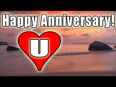E-cards - HAPPY ANNIVERSARY E-card video FREE BOLERO romantic LOVE song music / LOVE U E-Cards HD