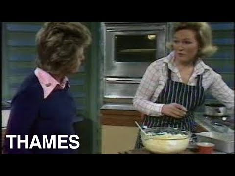 Mary Berry makes a  fruit cake | Good Afternoon | 1974