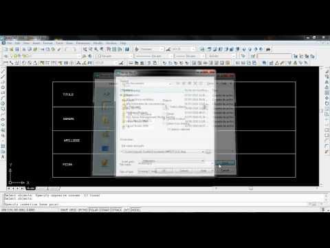 Como crear un rotulo con AutoCAD 2004