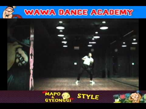 WAWA DANCE ACADEMY PSY GANGNAM STYLE DANCE STEP MIRRORED MODE