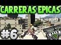 GTA V Online - BMX Por Los Tejados!! - Carreras Épicas #6 - Funny Moments GTA 5