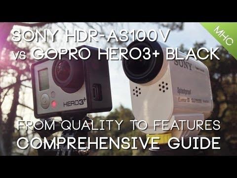 Sony HDR-AS100V vs GoPro Hero3+ BLACK HD