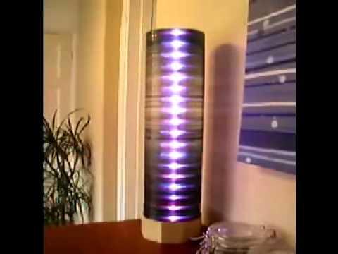 Cветильник из CD-дисков