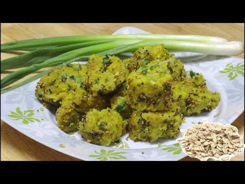 Oats & Spring Onion Muthia or Muthiya Recipe Video By Bhavna - Steamed Savory Quick & Healthy!