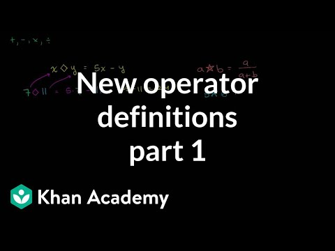 New Operator Definitions