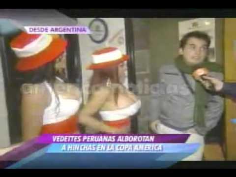 VEDETTES PERUANAS MUESTRAN SENOS EN COPA AMERICA 2011