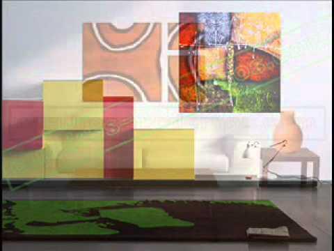 Cuadros modernos y abstractos salones y comedor - Cuadros para decorar salones ...
