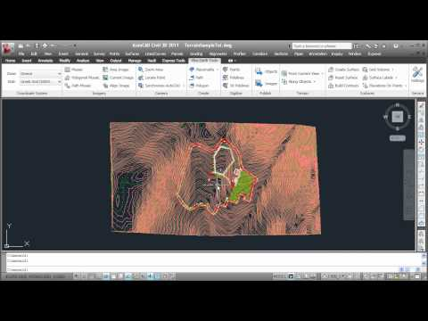 AutoCAD - Google Earth: Import terrain and create contour lines